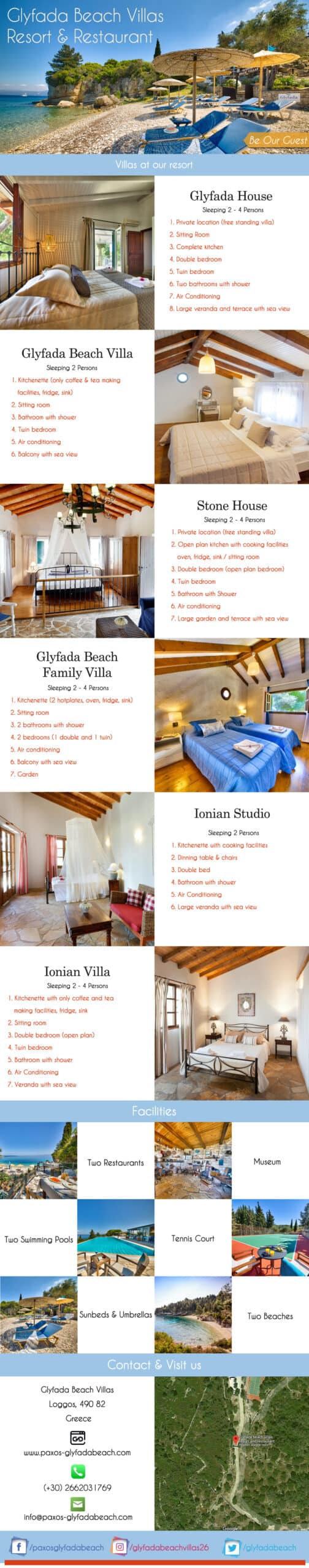 Luxury Villas In Paxos | Holiday Accommodation In Paxos | Glyfada Beach Villas