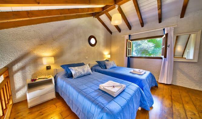 2nd Floor Bedroom In Glyfad Beach Family Villa