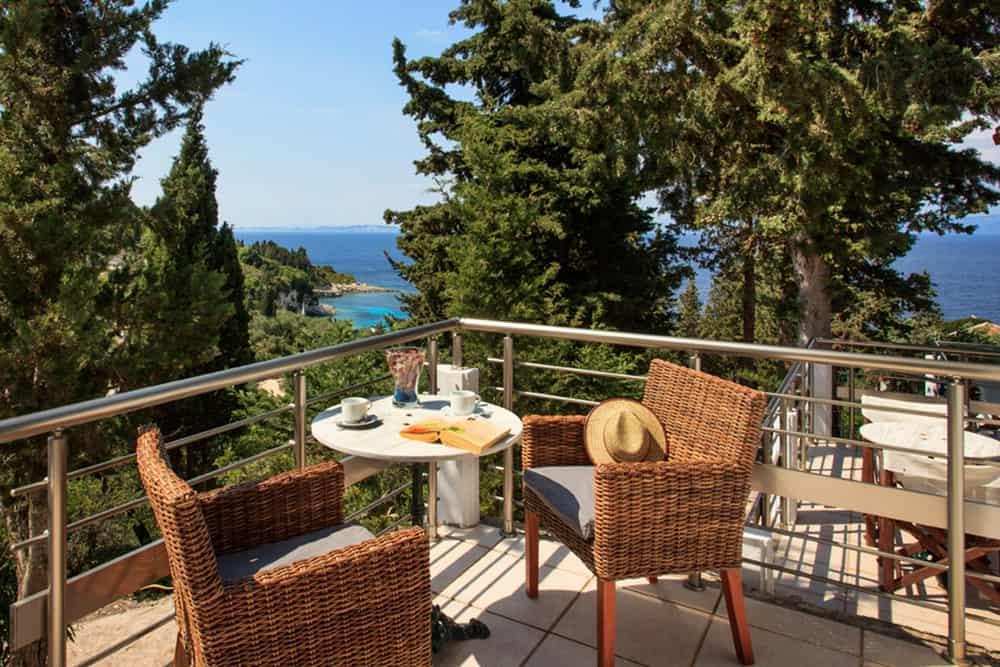 Balcony With Sea View Glyfada Beach Villa