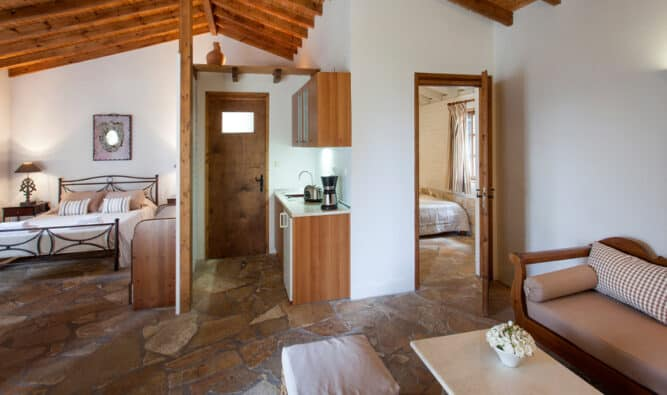 Living Room And Kitchen Area Ionian Villa