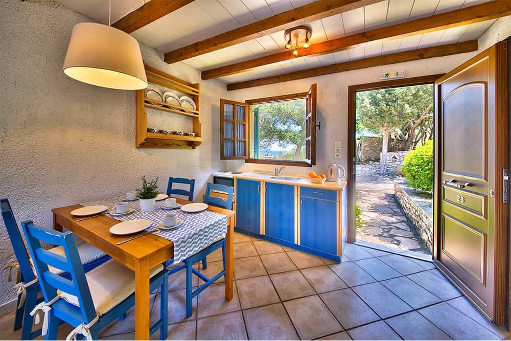 Kitchen Area In Glyfada Beach Family Villa