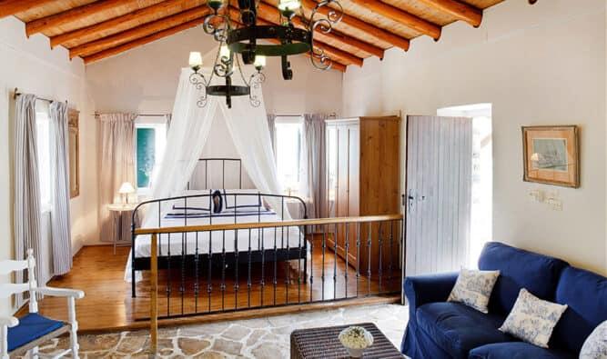Open Plan Bedroom Stone House