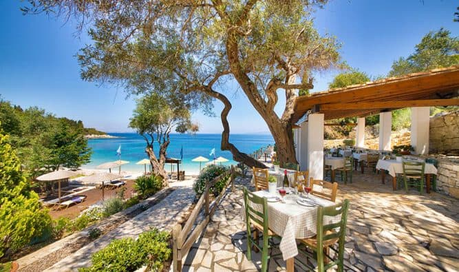 Restaurants For Breakfast And Lunch At Glyfada Beach Villlas