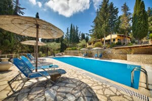 Swimming pool in front of the Ionion Villas