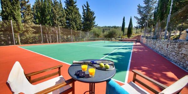Tennis Court At Glyfada Beach Villas