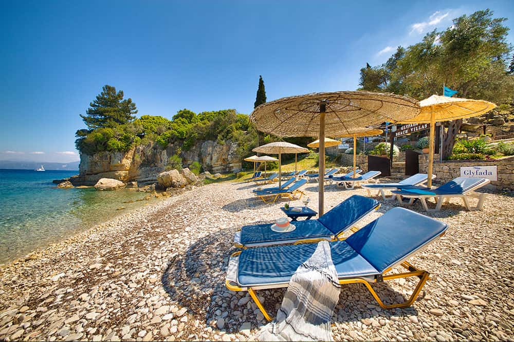 Sun Beds Glyfada Beach Villas At Monodendri Beach