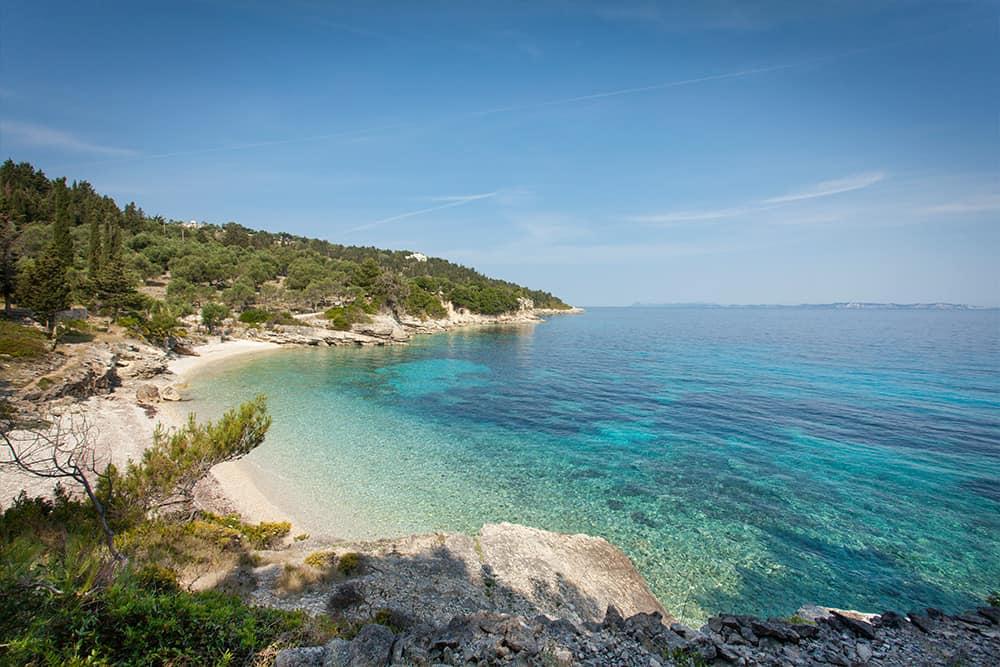 Glyfada Beach With Its Crystal Clear Water