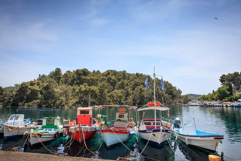 Traditional Fishing Boats In Gaios - Paxos