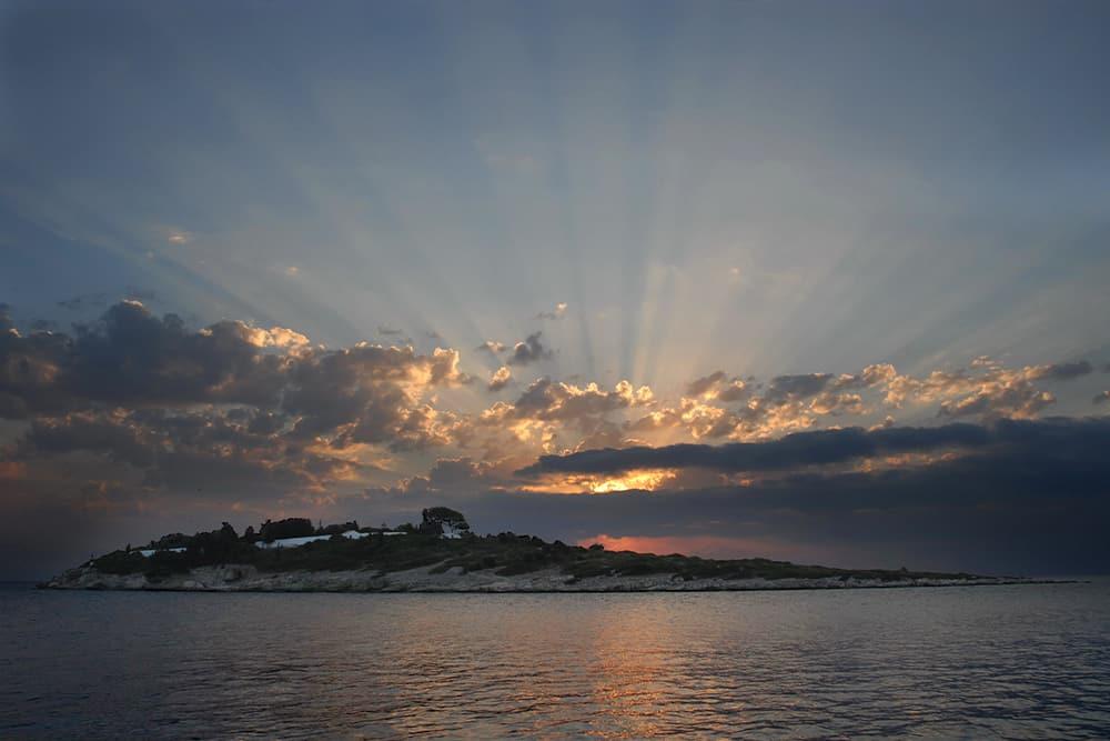 Sunrise At Panayia Island Paxos