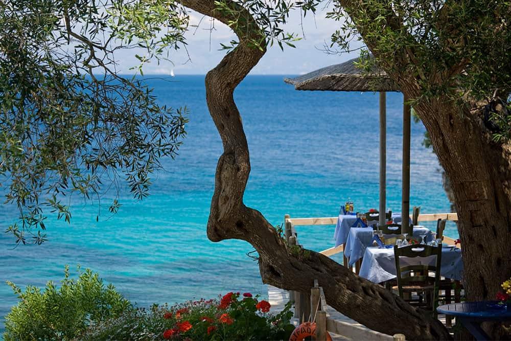 Enjoy Delicious Greek Food Inside Nature